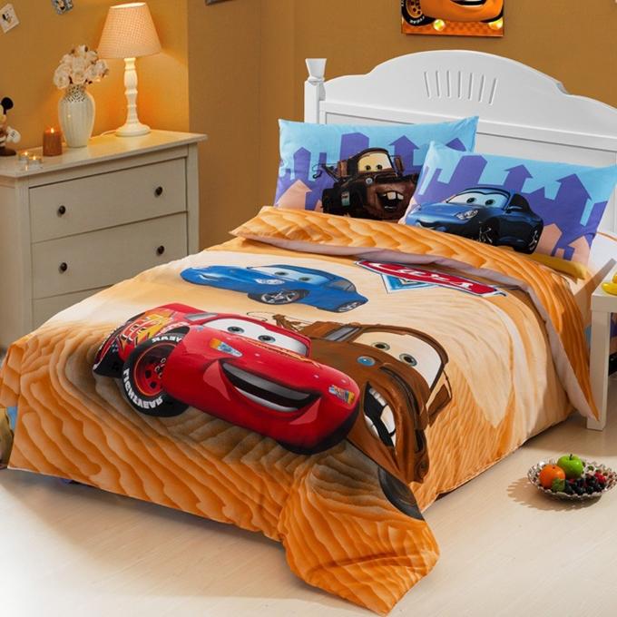 Race Car Kids boys bedding set twin size cartoon bedspread bedsheet duvet cover bed in a bag sheet designer quilt bedclothes(China (Mainland))