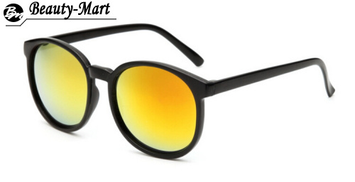 New Vintage 6 Color Reflect Lens Round Sunglasses Women Men Gafas Fashion Unisex Super Cool UV400 Glasses Oculos de sol(China (Mainland))