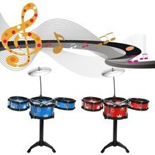 1 Set Band Jazz Drum Rock Children Kids Toddler Gift Music Toy(China (Mainland))