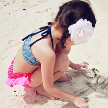 Bikini High quality Baby Girls Kid Swimwear Bikini Skirts Dress Tankini Floral Pattern Swimsuits Best price(China (Mainland))