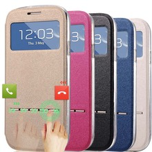 J5 Slid Answer Case For Samsung Galaxy J5 J500  Flip PU Leather Sliding Call View Window Housing Coque Accessories Phone Bag