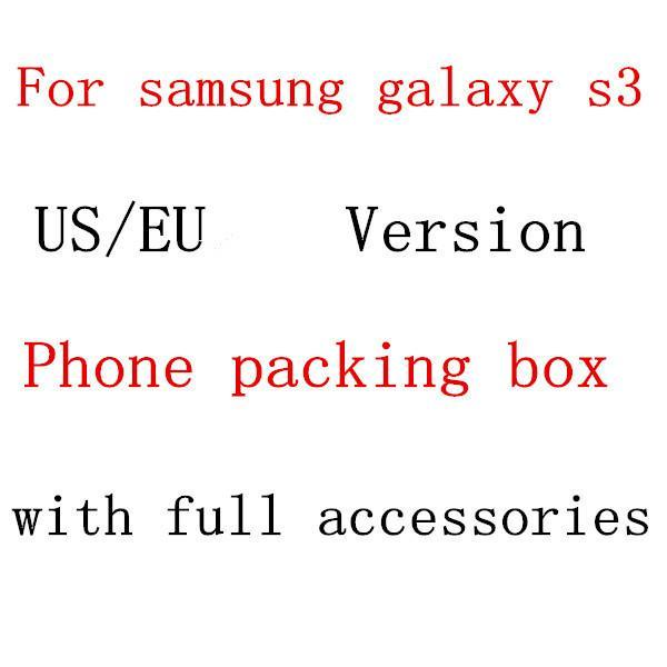 10pcs/lot Free Shipping High Quality EU/US Paper Phone Packing Box With Full Accessories For Samsung Galaxy S3 i9300(China (Mainland))