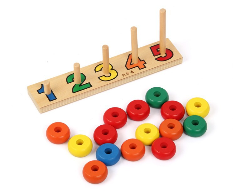Cognitive Learning Toys : Montessori baby toys digital colour cognitive child blocks