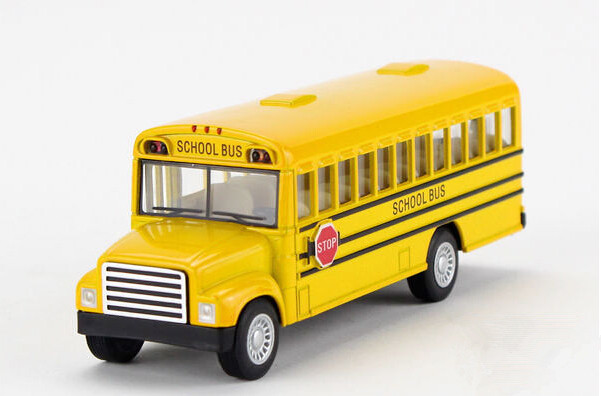 Free shipping Kinsmart American school bus Alloy model toys Leap to jump Children like the gift(China (Mainland))