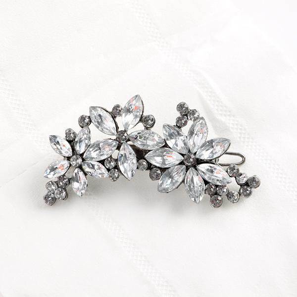 Women Noble Crystal Flower Barrette Women Floral Rhinestone Hair Clips LKT0070(China (Mainland))