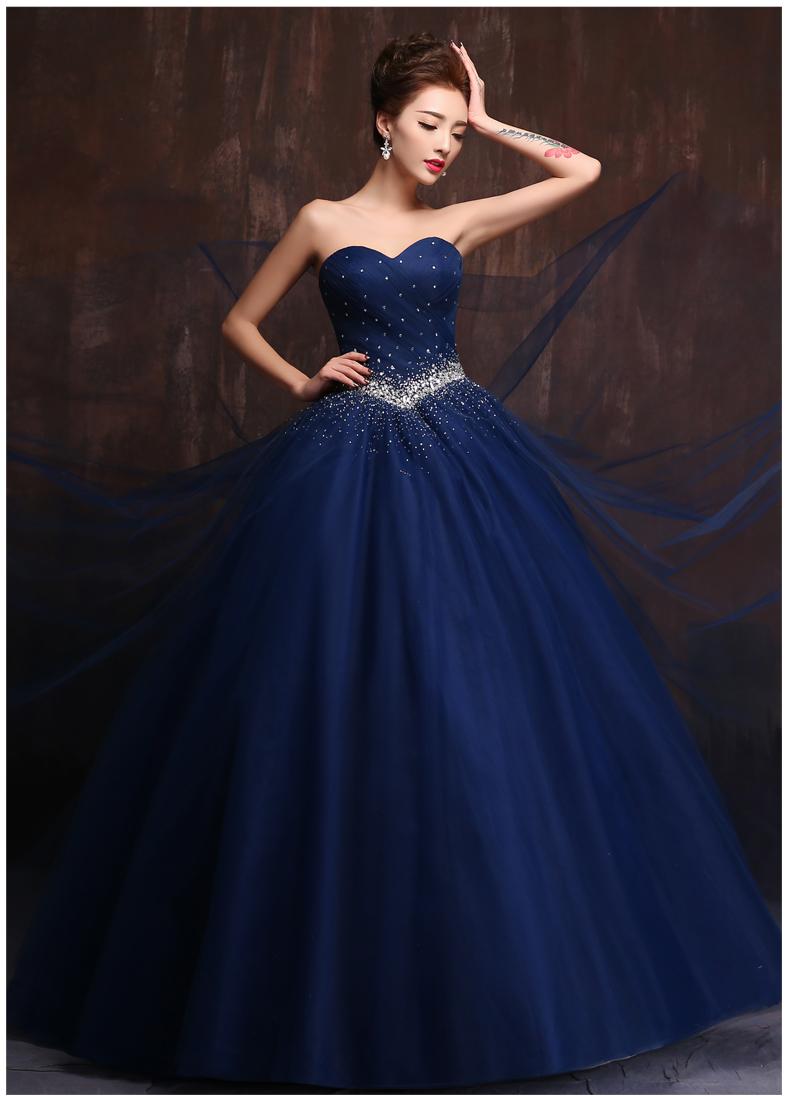 Gallery For Royal Blue Wedding Dress