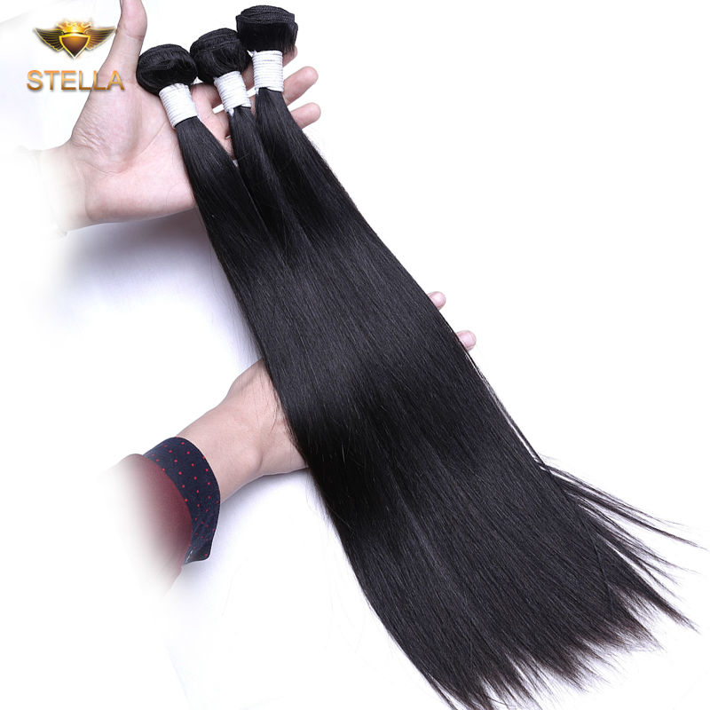 Queen Hair Products Virgin Brazilian Straight Hair 4Pcs Brazilian Straight Hair Weave Bundles 8-28 Straight Human Hair Bundles