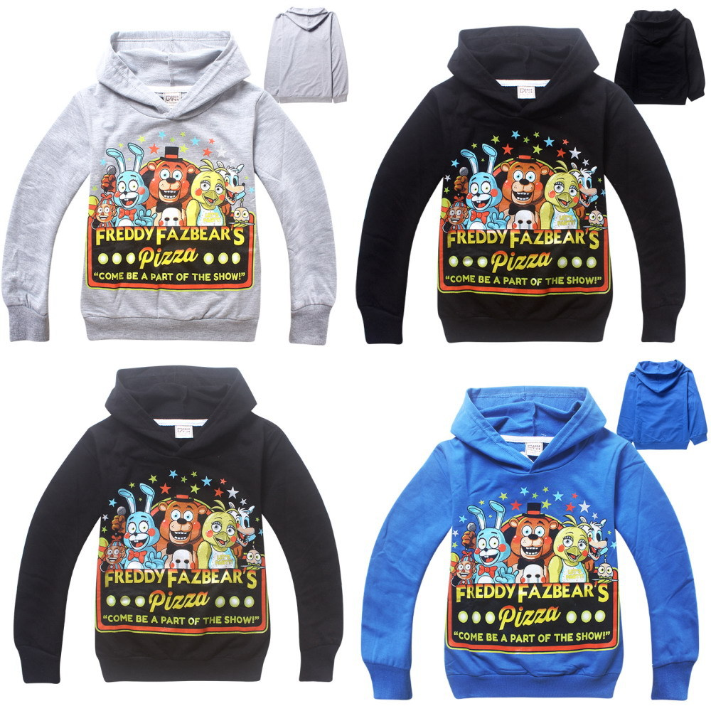 2015 newest children Five Nights at Freddy's hoodies boys hooded sweatshirt kids spring autumn outerwear coat fashion clothing(China (Mainland))
