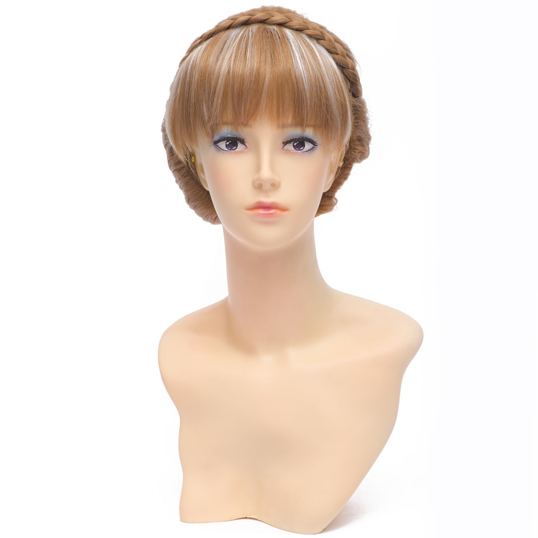30cm Brown Straight Short Synthetic Full Cosplay Costume Fancy-dress Anime Wig