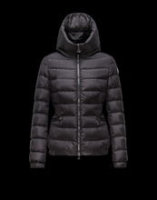 Moncler Black down coat 2016 new fashion hooded zipper Women's winter jacket black(China (Mainland))