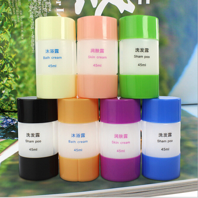 NEW 45 ml Refillable Bottles Travel Plastic Empty Shampoo Lotion Bath Cream Storage Bottle Container Cosmetic Tube women men(China (Mainland))