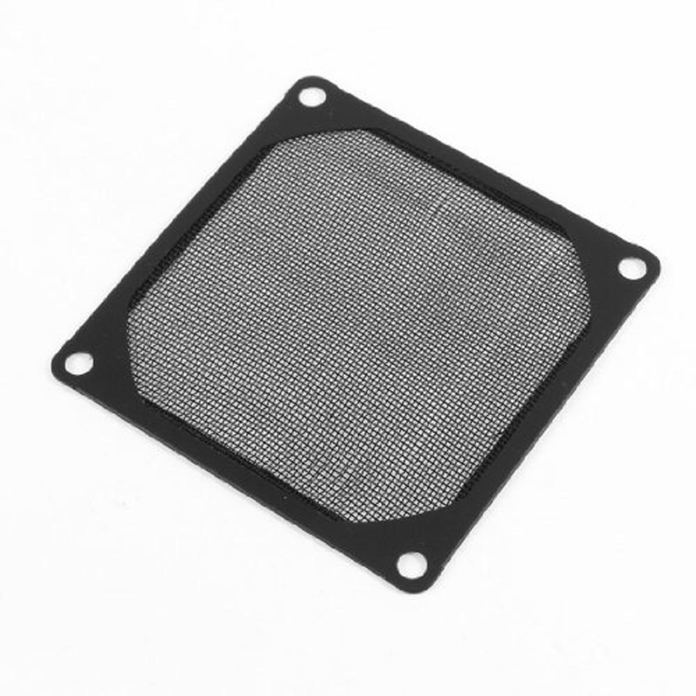 New Queen! 8cm x 8cm PC Cooler Fan Aluminum Dustproof Meshy Filtere Black(China (Mainland))