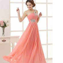 2014 annual new host red even dress one shoulder long dresses party toast to the bride clothing wholesale even gown(China (Mainland))