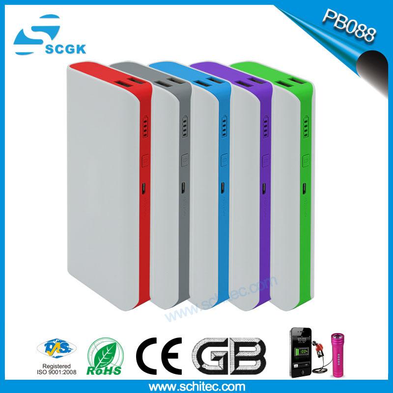 2015 power bank New Original 13000mAh powerbank general charger external backup battery pack free usb cable pb088(China (Mainland))