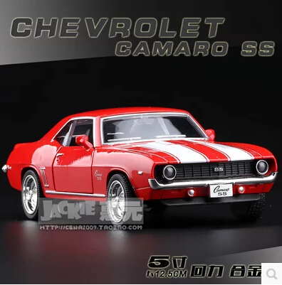 1969 Chevrolet Camaro SS Original alloy car models 1:36 pull back kids toy Christmas gift boy diecast Hot sale free shipping(China (Mainland))