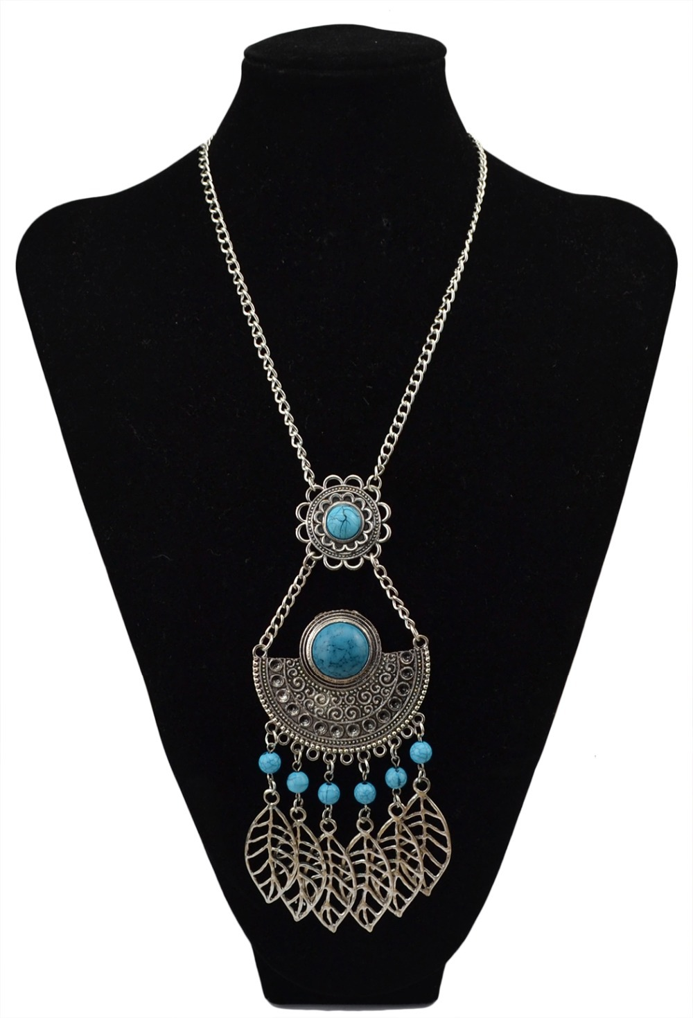 aliexpress buy collier femme silver turquoise black