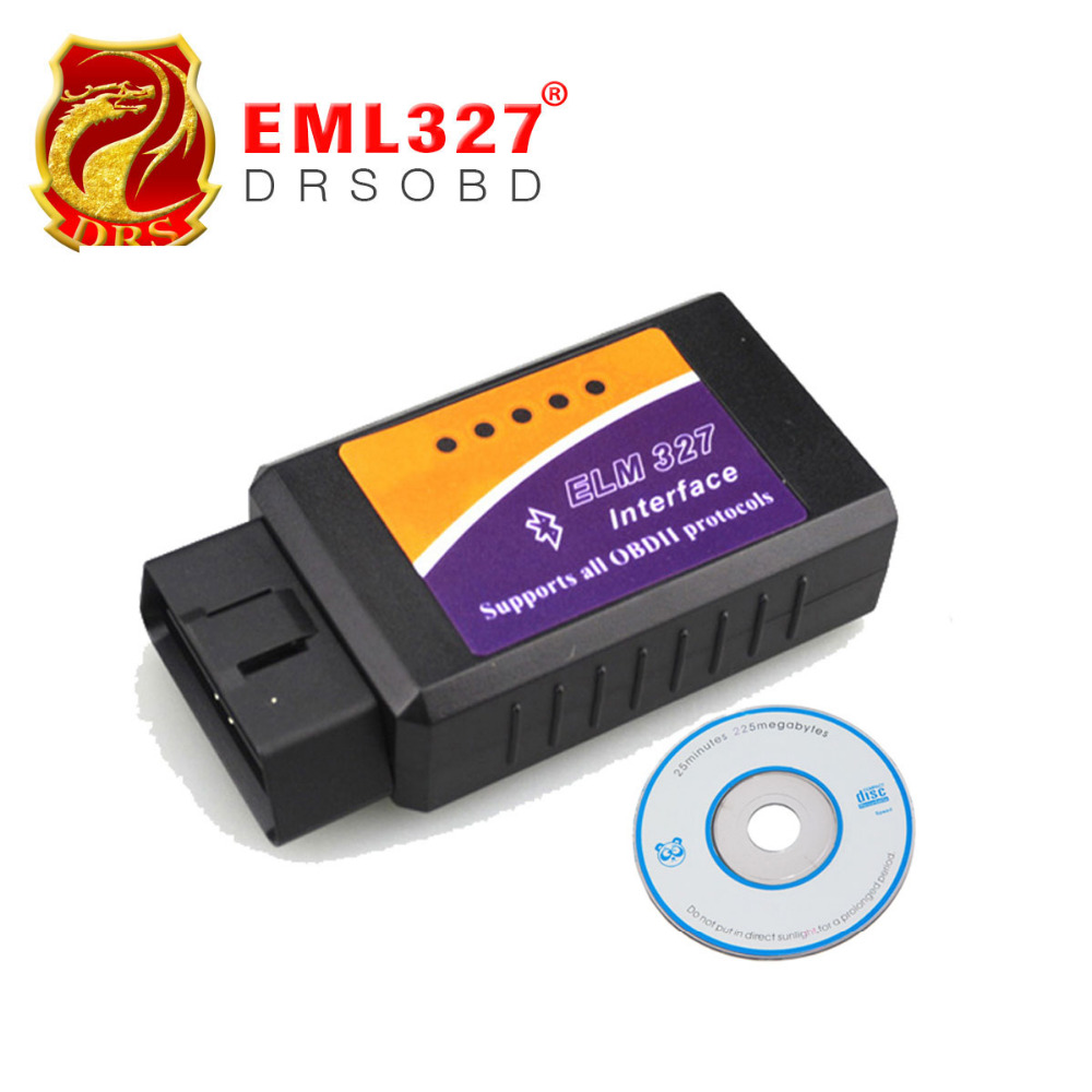 Wholesales Auto Code Read Scan ELM327 bluetooth version ELM 327 BT OBD2 auto code scanner V1.5 Version Free shipping(China (Mainland))