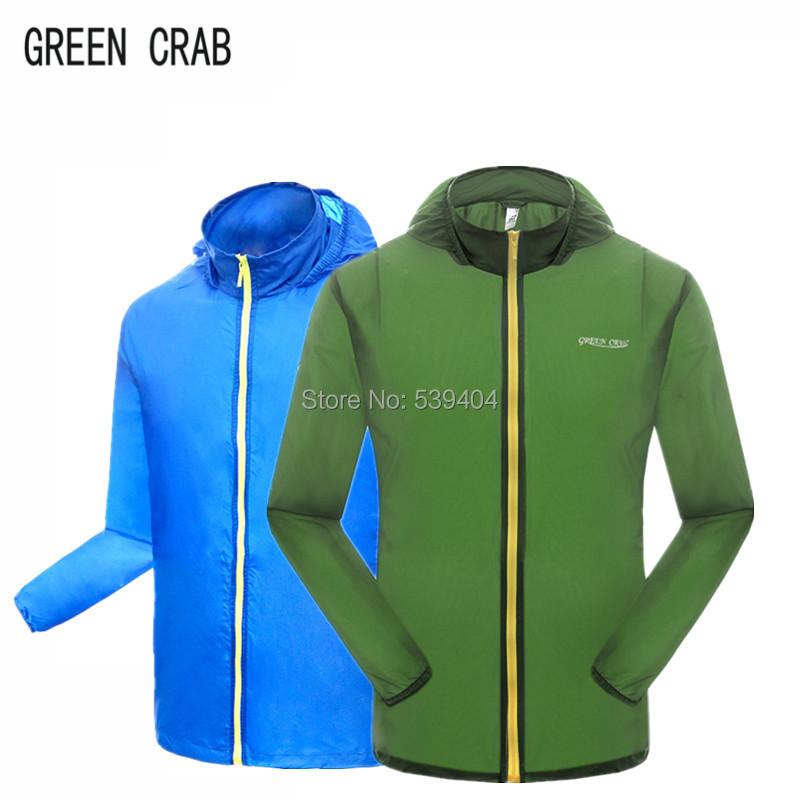 Windstopper Hunting Clothes Men Outdoor Trekking&Fishing Jacket Summer Anti UV Climbing&Cycling Skin Jackets Men GREEN CRAB(China (Mainland))