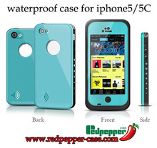For iPhone 5c Waterproof case life Water proof case Shockproof Dirt Proof phone Cases for iphone 5c(China (Mainland))