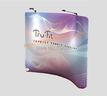 10ft Curve Aluminum tension fabric display banner stand for Advertising,backdrop stand,trade show,Exhibition stand(China (Mainland))