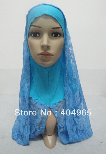 H677a popular big size ninja underscarf with lace shawl,fast delivery,assorted colors