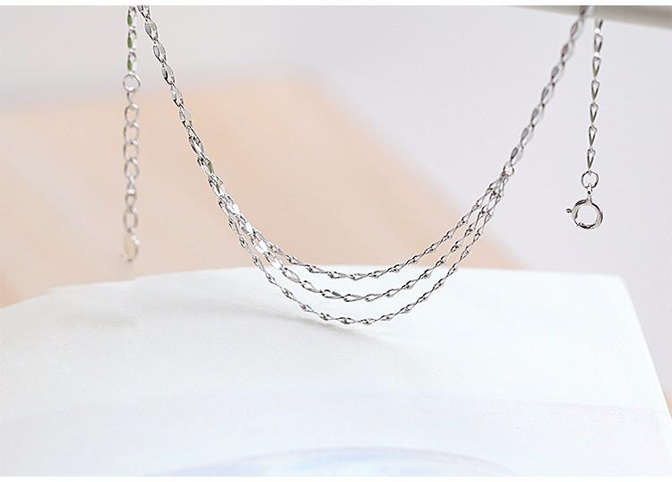 Стерлингового Серебра 925 с Платиновым Покрытием Многослойные Ножные Браслеты Женщины Моды Марка Ювелирные Аксессуары (SA051)