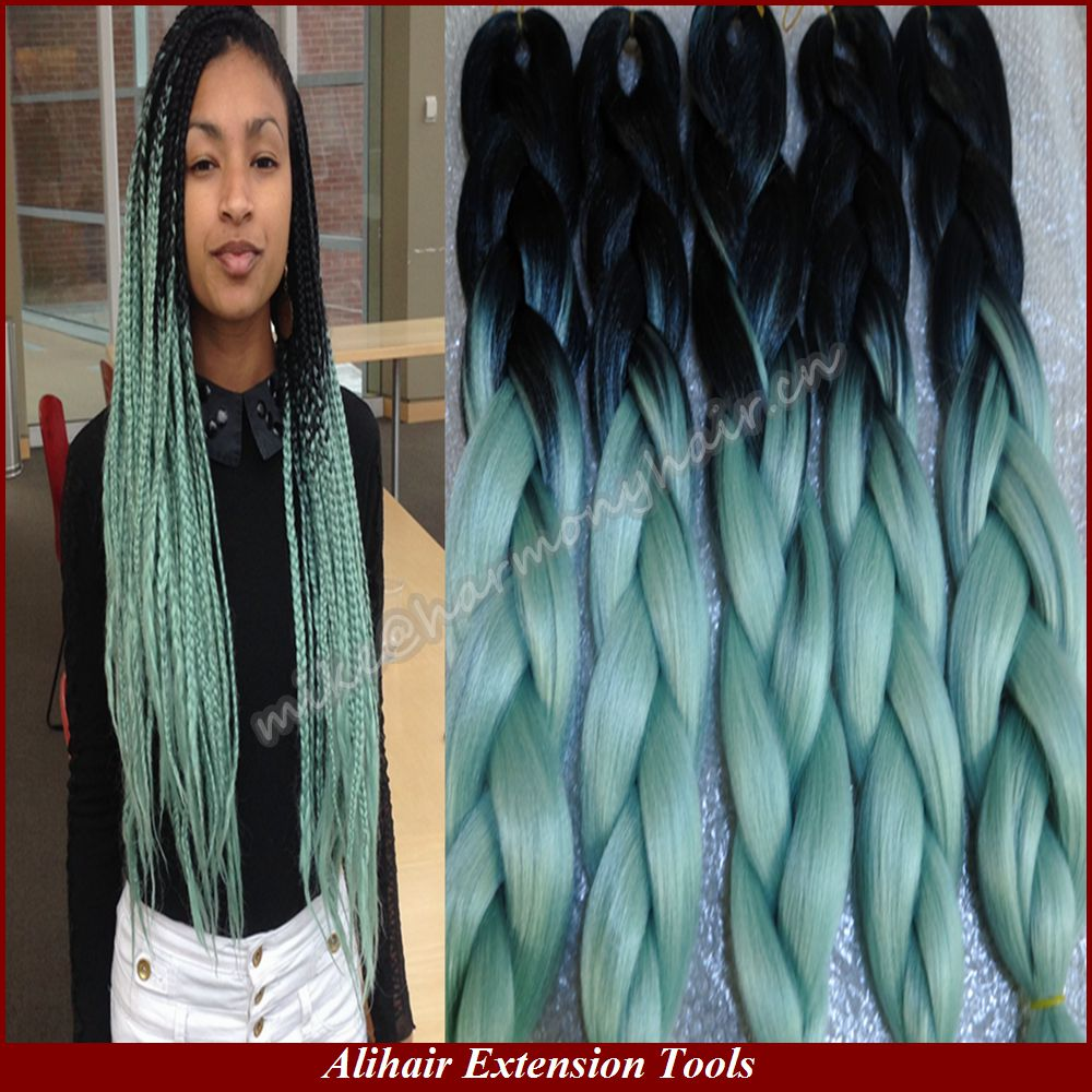Crochet Box Braids Ombre : ... Jumbo Braiding Synthetic Hair For Dreads Crochet Box Twist Braids