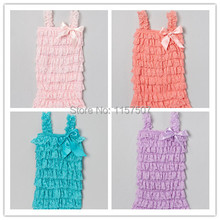 Free Shipping !  Posh Lace Petti Romper fot Kids Girl  Soft Lace Romper with Straps and Bow  3 Pieces / a lot(China (Mainland))