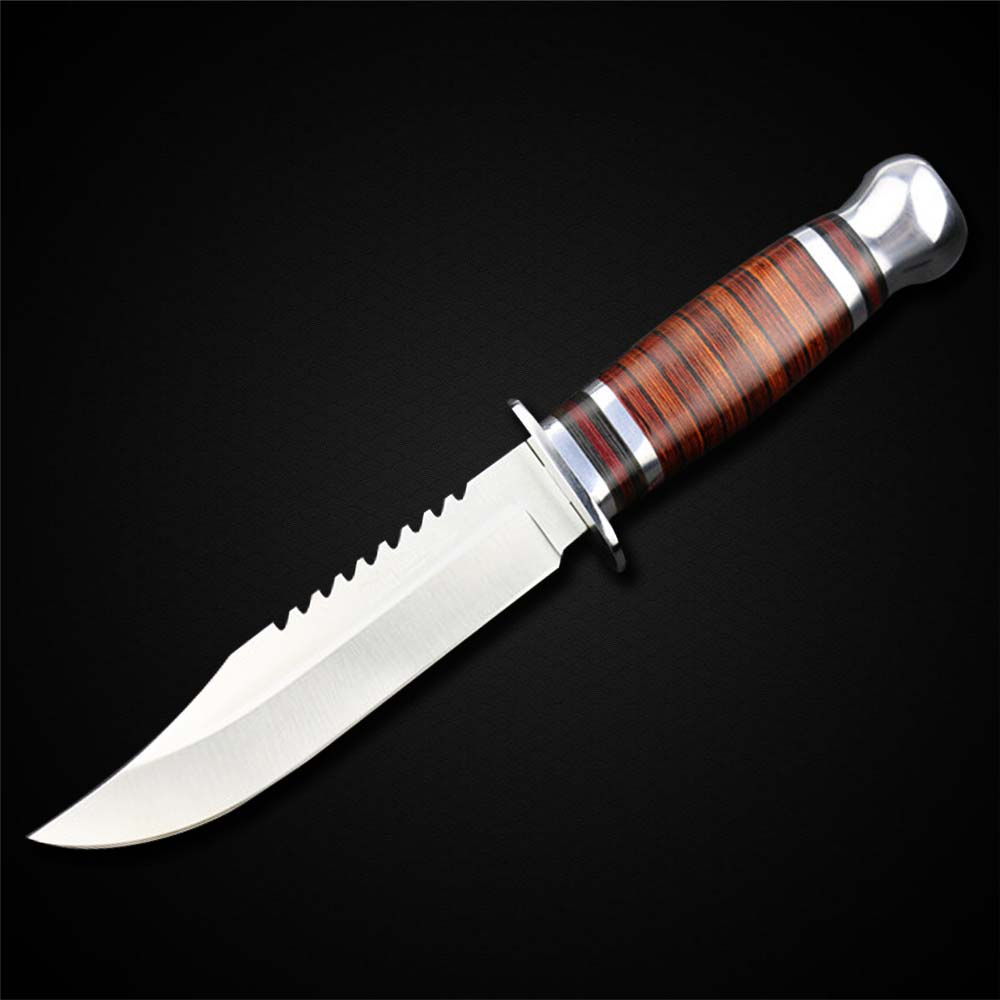New Bowie Knife Fixed Blade Stainless Steel Knife Self-defense Knife For Wilderness Survival(China (Mainland))
