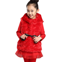 Fur girls clothing set winer coat for girls 6-14 years kids clothes 11