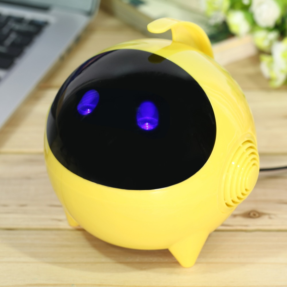 Mini Robot Speaker Portable Bluetooth Wireless USB 2.0 Radio Speaker 3.5mm For Mobile Phones for iPod for iPhone MP3 Tablet PC(China (Mainland))