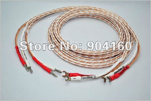 Kimber kable 8TC speaker cable Single-biwire with 2 Banana to 2Y spade brand new box 3M pair No Box(China (Mainland))