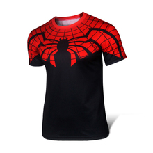 Man tight t-shirts style sleeve T-shirt printing batman superman spiderman