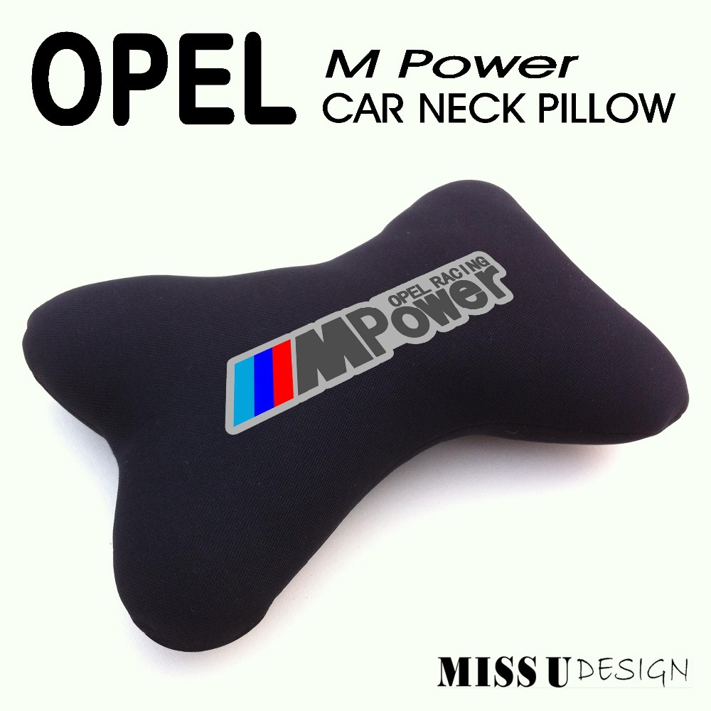 OPEL AUTO NECK PILLOW POWER M RACE LOGO FREE SHIPPING CAR INTERIOR ACCESSORIES AUTOMOTIVE(China (Mainland))