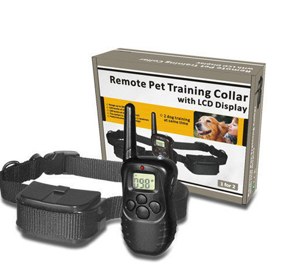 100LV Level 300meter Electronic Shock Vibra LCD Display Remote Control Pet Dog Training Collar 998D For 1 Dog(China (Mainland))