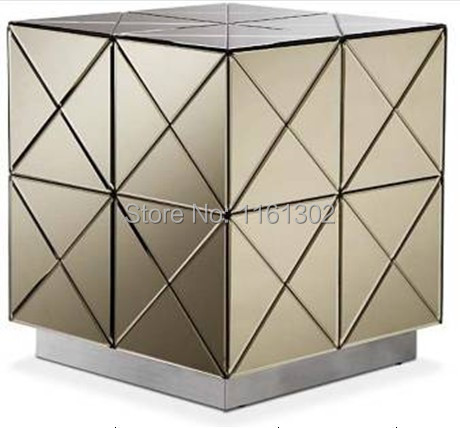 MR-401030 modern beveled mirrored end table(China (Mainland))