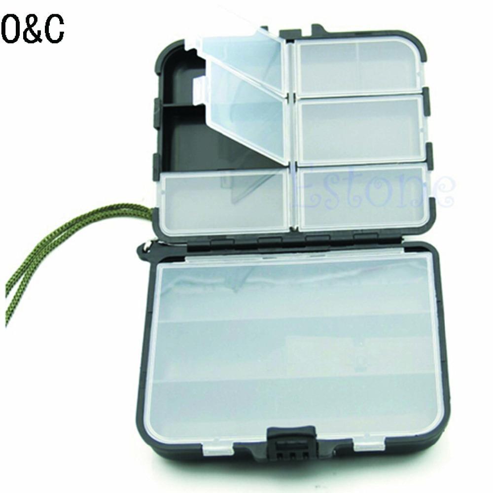 2015NEW Portable Fishing Lure Spoon Hook Box Crankbait Bait Tackle Plastic Storage Case Fishing Tackle Box(China (Mainland))