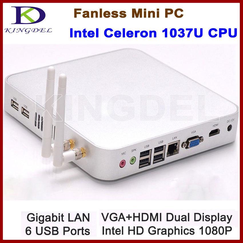 Free shipping Functional 8GB RAM+64GB SDD Thin Client Terminal Mini PC Desktop Computer, Intel Celeron 1037U Dual Core CPU, HDMI(China (Mainland))