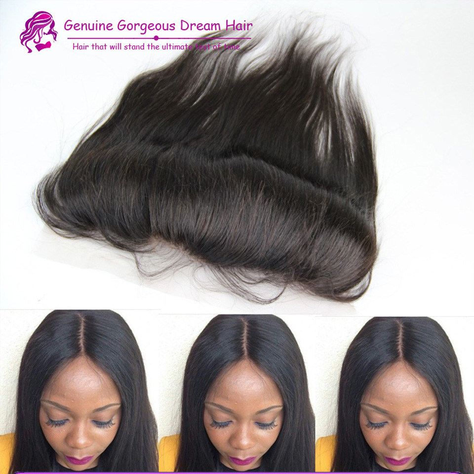 Malaysian Lace Frontal Closure 1pc Free/Middle/Three Part Virgin Human Hair Lace Closure Can Be Bleached #1b<br><br>Aliexpress