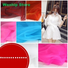 5 yard Fashion Organza Fabric 8 color For Wedding Decoration or party decoration,Bud silk dress material Width 140CM(China (Mainland))