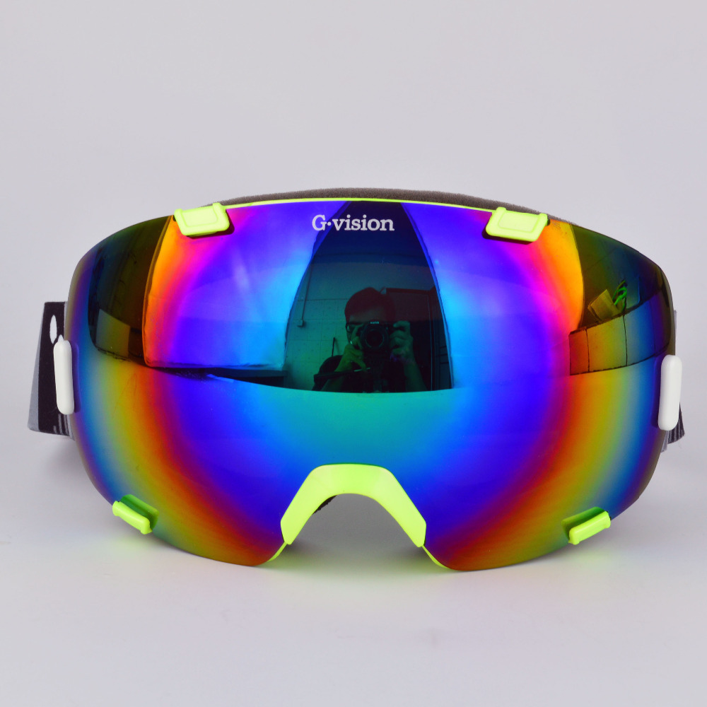 2014 New Goggles Men &Women Adult anti-fog Duable lens Ski Goggle Glasses Mask Outdoor Snowboard changeable lens Goggles(China (Mainland))