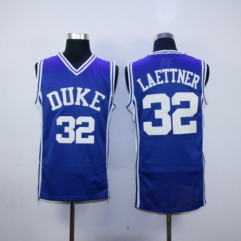 Free Shipping #32 Christian Laettner Jerseys Duke Blue Devils Basketball Jersey College White Size S-3XL(China (Mainland))