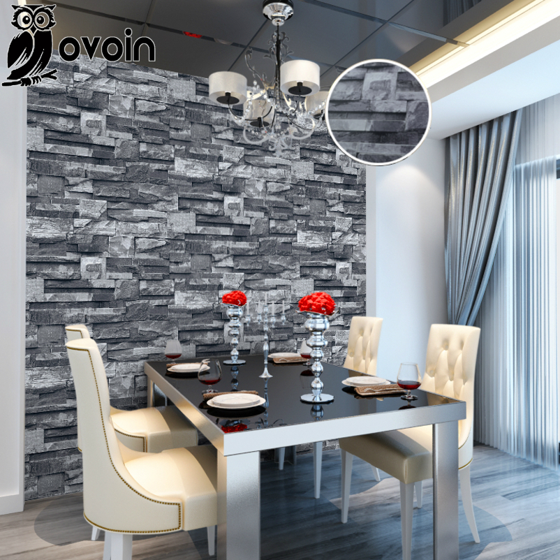 Online buy wholesale 3d stone wallpaper from china 3d - Fake brick wall decoration ...