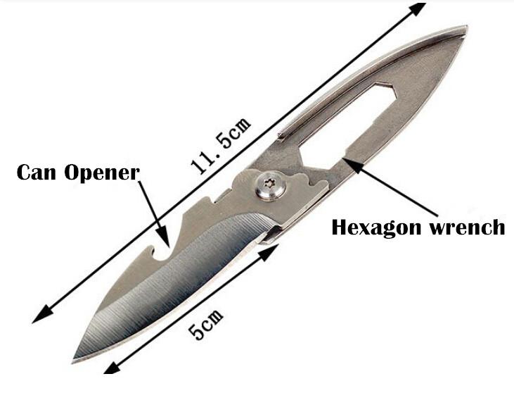 30 pcs/lot Outdoor Travel Camping Survival Tool Kits, Small Folding Pocket Knife, Key Chain Knife ,EDC Tool(China (Mainland))