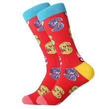 MYORED милые хлопковые толстве длинные носки для мужчин и женщин на каждый день платье в деловом стиле для фруктов, молока мультфильм животный ...(China)