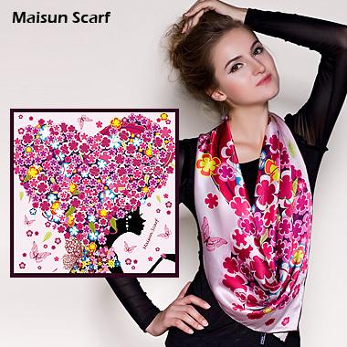 Maisun 90x90cm 100% silk pashmina shawl women latest scarves unique design hijab fashion autumn summer square scarf(China (Mainland))