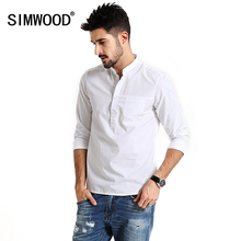 Buy SIMWOOD 2017 Spring Casual Pullover Shirts Men Long Sleeve 100% Pure Cotton Brand breathability Slim Fit Brand Clothing CS1595 for $23.95 in AliExpress store