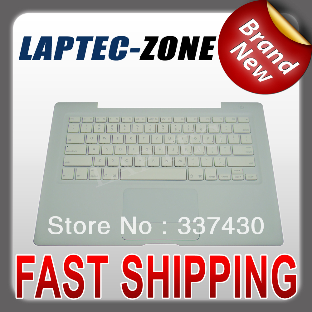 """NEW FITS Macbook 13"""" A1185 Top Case TOUCHPAD US Keyboard White with silver cable(China (Mainland))"""