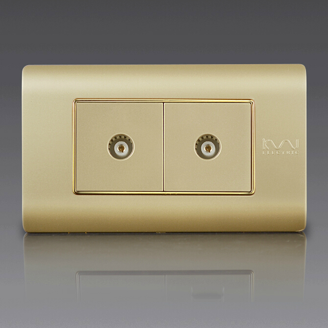 Free Shipping, Kempinski Luxury Double TV Socket, Dual TV Outlet, 118*72mm, C5 series<br><br>Aliexpress