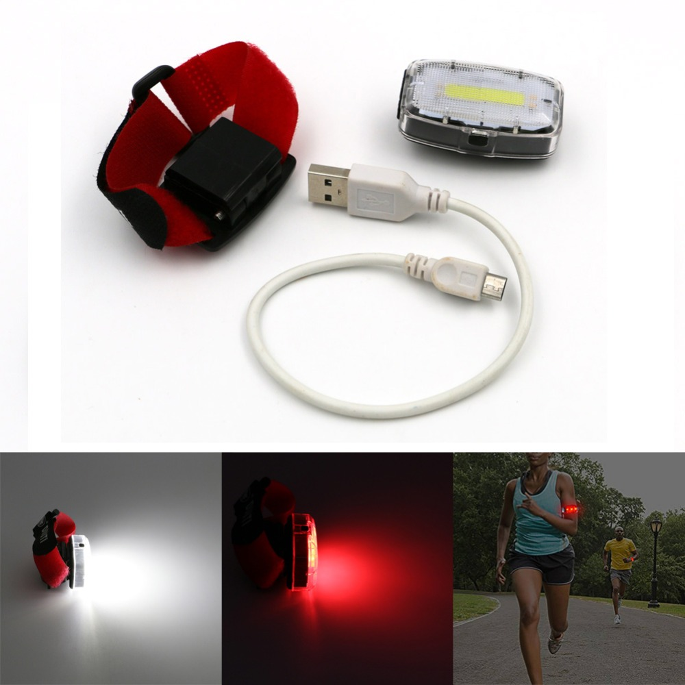Night Light Rechargeable 3 LED Rear Tail Light Bike Bicycle Red Back Light Safety Warning Flashing Lights Wrist Lamp With Clip(China (Mainland))